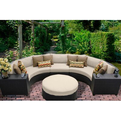 Barbados 6 Piece Sectional Seating Group with Cushion Fabric: Beige