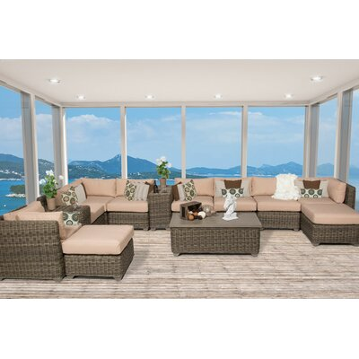 Cape Cod 13 Piece Sectional Seating Group with Cushion Fabric: Wheat