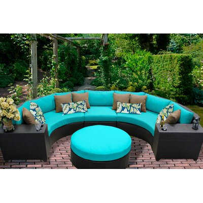 Barbados 6 Piece Sectional Seating Group with Cushion Fabric: Aruba
