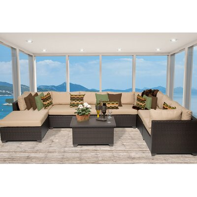 Belle 9 Piece Sectional Seating Group With Cushion Fabric: Wheat