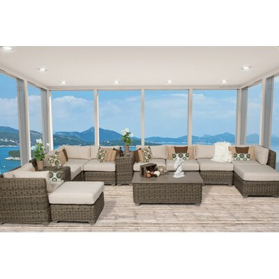 Cape Cod 13 Piece Sectional Seating Group with Cushion Fabric: Beige