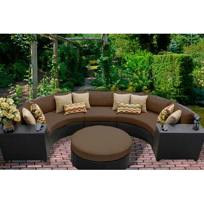 Barbados 6 Piece Sectional Seating Group with Cushion Fabric: Cocoa
