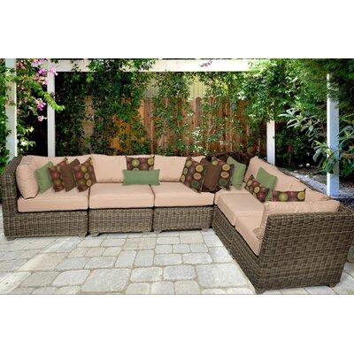 Cape Cod Sofa With Cushions Fabric: Wheat