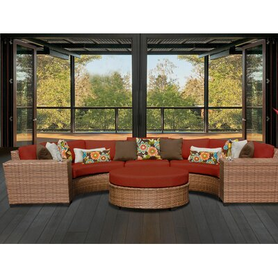 Laguna 6 Piece Sectional Seating Group with Cushion