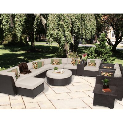 Barbados 12 Piece Sectional Seating Group with Cushion Fabric: Beige
