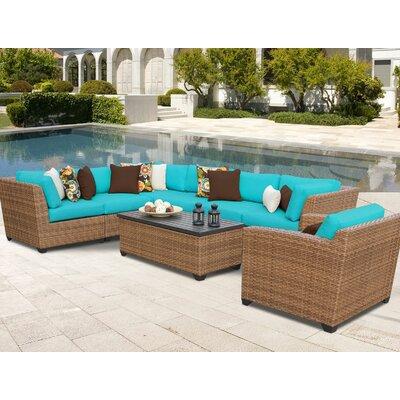 Laguna 8 Piece Sectional Seating Group with Cushion Fabric: Aruba