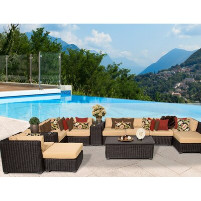 Venice 13 Piece Sectional Seating Group with Cushion Fabric: Sesame