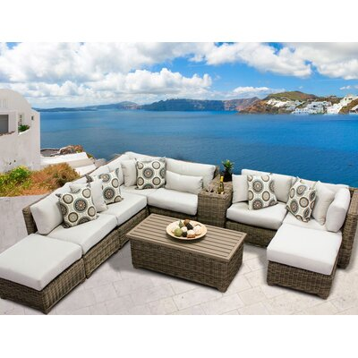 Cape Cod 10 Piece Sectional Seating Group with Cushion Fabric: Beige