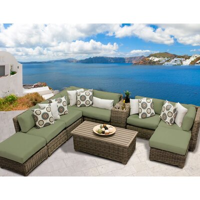 Cape Cod 10 Piece Sectional Seating Group with Cushion Fabric: Cilantro
