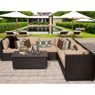 Venice 7 Piece Sectional Seating Group with Cushion Fabric: Wheat