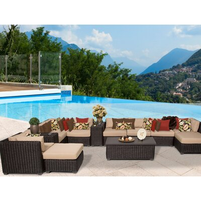 Venice 13 Piece Sectional Seating Group with Cushion Fabric: Wheat