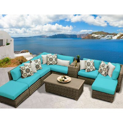 Cape Cod 10 Piece Sectional Seating Group with Cushion Fabric: Aruba