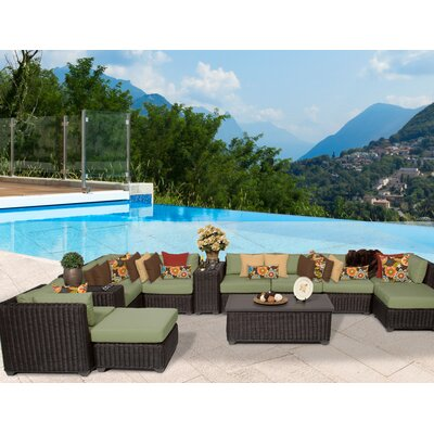 Venice 13 Piece Sectional Seating Group with Cushion Fabric: Cilantro