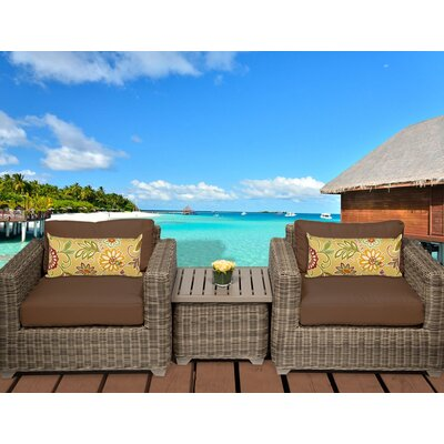 Cape Cod 3 Piece Deep Seating Group with Cushion Fabric: Cocoa