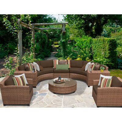 Laguna 8 Piece Sectional Seating Group with Cushion Fabric: Cocoa