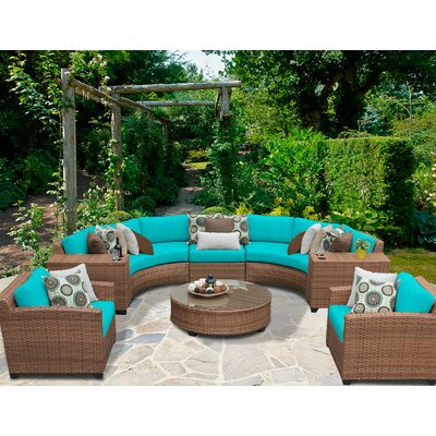 Laguna 8 Piece Sectional Seating Group with Cushion Fabric: Aruba