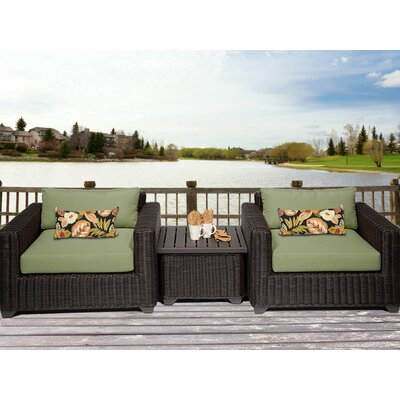 Venice 3 Piece Deep Seating Group with Cushion Fabric: Cilantro
