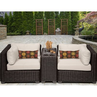 Venice 3 Piece Deep Seating Group with Cushion Fabric: Beige
