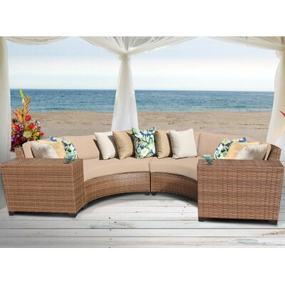Laguna 4 Piece Sectional Seating Group with Cushion