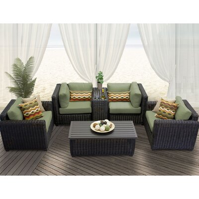 Venice 6 Piece Deep Seating Group with Cushion Fabric: Cilantro