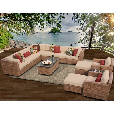 Laguna 13 Piece Sectional Seating Group with Cushion Fabric: Wheat