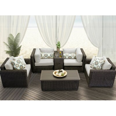 Venice 6 Piece Deep Seating Group with Cushion Fabric: Beige