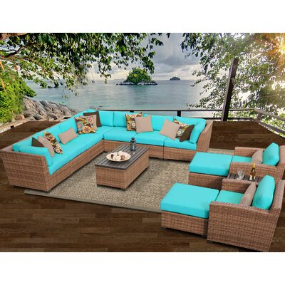 Laguna 13 Piece Sectional Seating Group with Cushion Fabric: Aruba