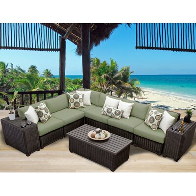 Venice 9 Piece Sectional Seating Group with Cushion Fabric: Cilantro
