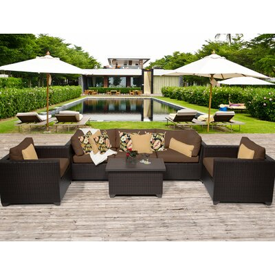 Belle 6 Piece Deep Seating Group with Cushion