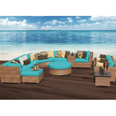 Laguna 12 Piece Sectional Seating Group with Cushion Fabric: Aruba