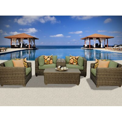 Cape Cod 6 Piece Deep Seating Group with Cushion Fabric: Cilantro