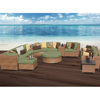 Laguna 12 Piece Sectional Seating Group with Cushion Fabric: Cilantro