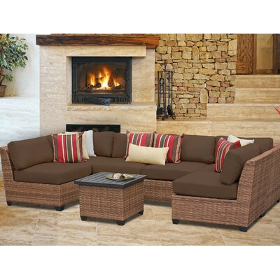 Laguna 7 Piece Sectional Seating Group with Cushion