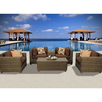 Cape Cod 6 Piece Deep Seating Group with Cushion Fabric: Cocoa