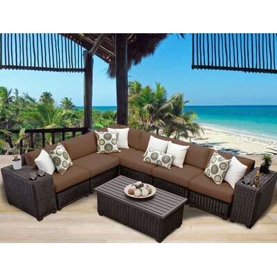 Venice 9 Piece Sectional Seating Group with Cushion Fabric: Cocoa