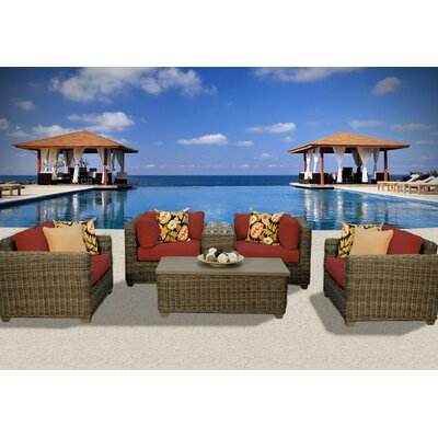 Cape Cod 6 Piece Deep Seating Group with Cushion Fabric: Terracotta