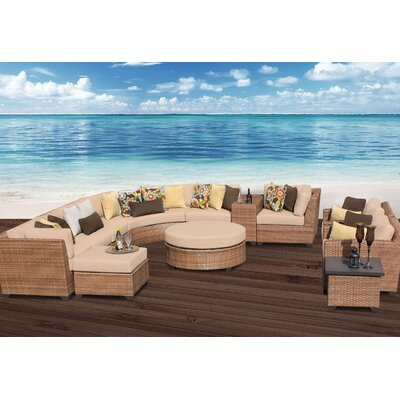 Laguna 12 Piece Sectional Seating Group with Cushion Fabric: Wheat