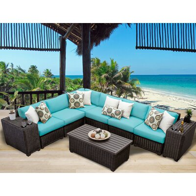 Venice 9 Piece Sectional Seating Group with Cushion Fabric: Aruba