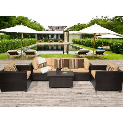 Belle 6 Piece Deep Seating Group with Cushion Fabric: Sesame