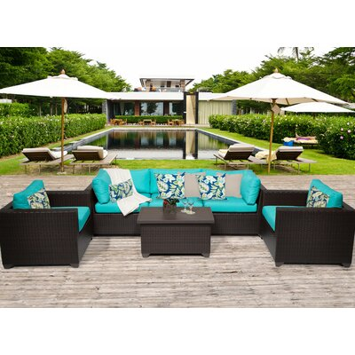 Belle 6 Piece Deep Seating Group with Cushion Fabric: Aruba