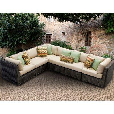 Venice Sofa With Cushions Fabric: Wheat