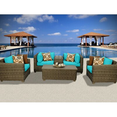 Cape Cod 6 Piece Deep Seating Group with Cushion Fabric: White