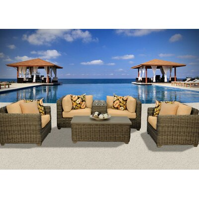 Cape Cod 6 Piece Deep Seating Group with Cushion Fabric: Sesame