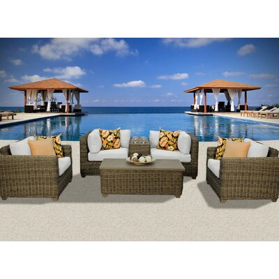 Cape Cod 6 Piece Deep Seating Group with Cushion Fabric: Beige