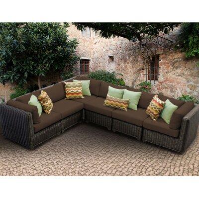 Venice Sofa With Cushions Fabric: Cocoa