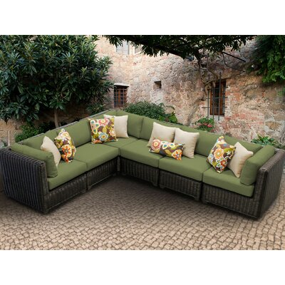 Venice Sofa With Cushions Fabric: Cilantro