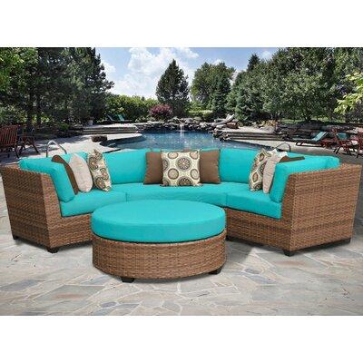 Laguna 4 Piece Sectional Seating Group with Cushion Fabric: Aruba