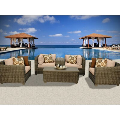 Cape Cod 6 Piece Deep Seating Group with Cushion Fabric: Wheat