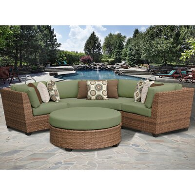 Laguna 4 Piece Sectional Seating Group with Cushion Fabric: Cilantro