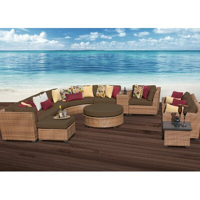 Laguna 12 Piece Sectional Seating Group with Cushion Fabric: Cocoa